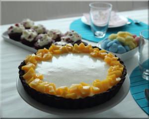 Frischkäse-Pfirsich-Torte