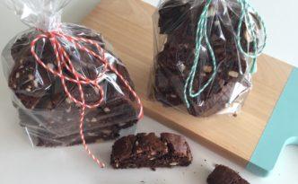 Geschenke aus der Küche Schoko Cantuccini mit Casewkernen