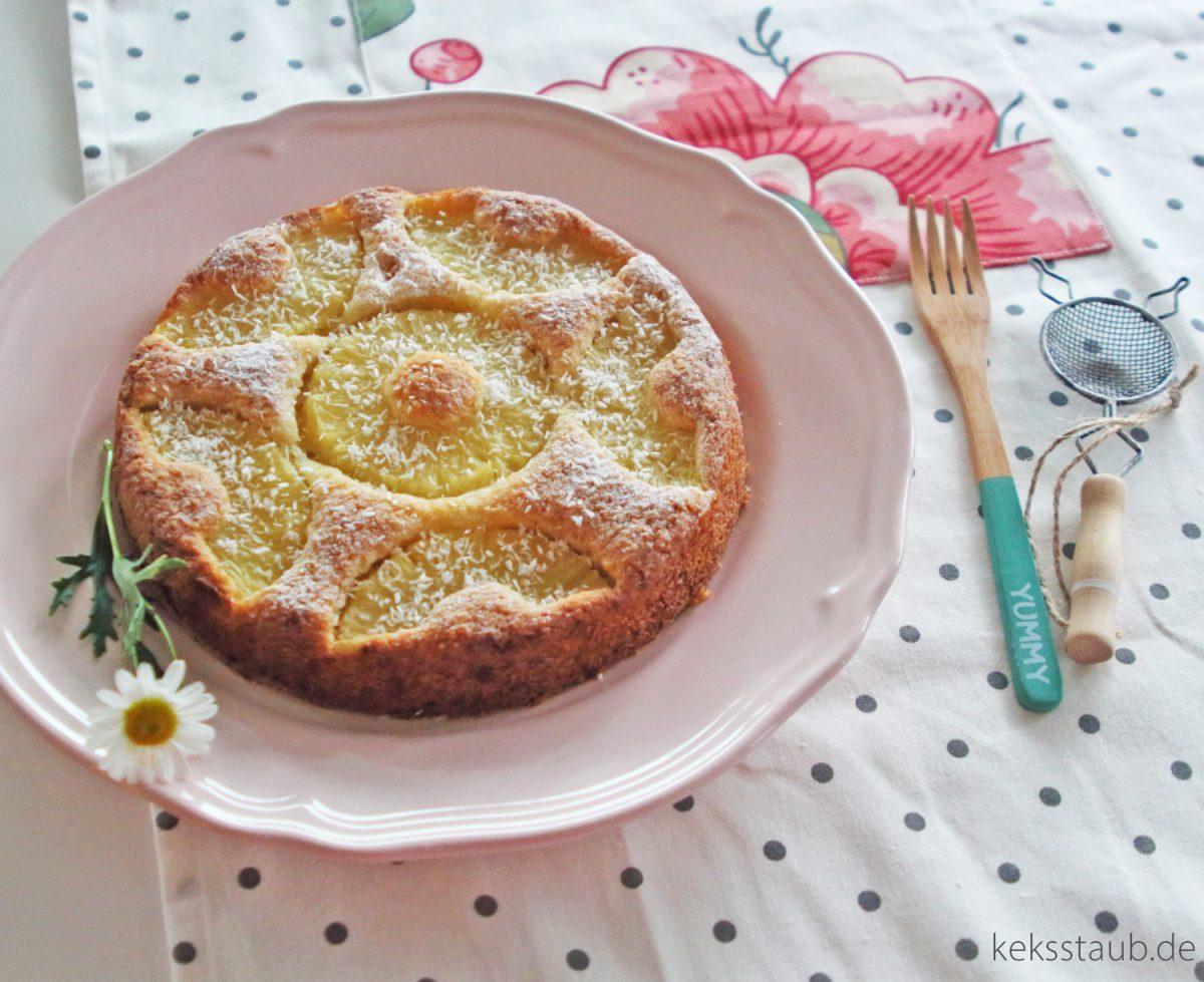 Gebackener Pina Colada - Kokos Aananas Kuchen