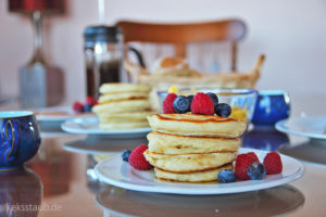 Frühstück in Irland Pancakes