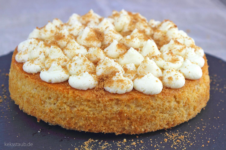 Macadamia Apfel Kuchen mit Honig Mascarpone