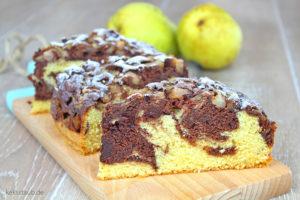 kalorienreduzierter-Marmorkuchen-mit-Birnen-mit-Thermomix-Anleitung