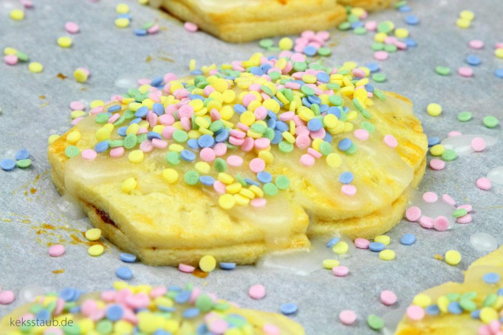Konfetti Pop Tarts zu Karneval mit Nutella und Marmeladen Füllung