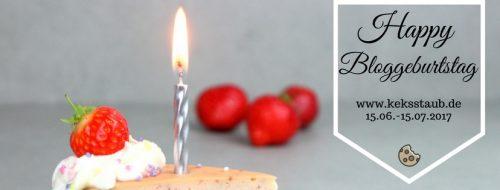 Banner keksstaub feiert Blog Geburtstag