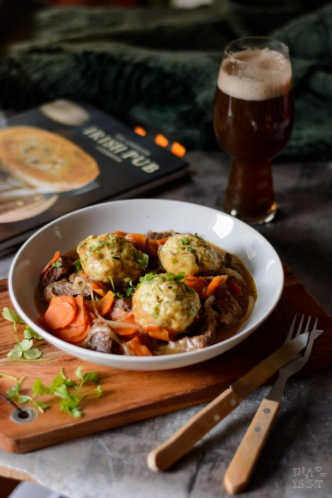 Beef in Stout with Herb Dumplings