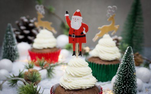Weihnachtliche Bananenbrot Lebkuchen Cupcakes von Keksstaub