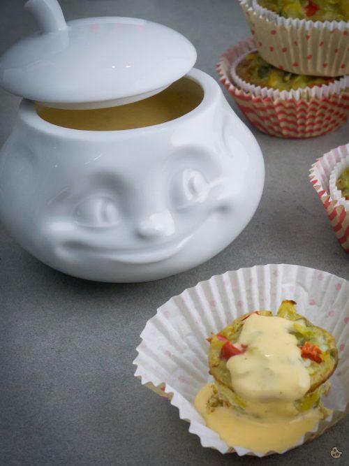 Tortilla Muffins mit Käsesoße von Keksstaub