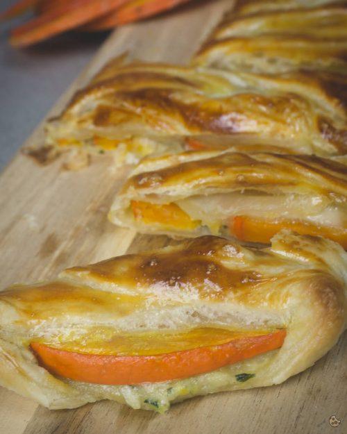 Happyhaeppchen Blätterteig Strudel mit Kürbis schnell und einfach von keksstaub
