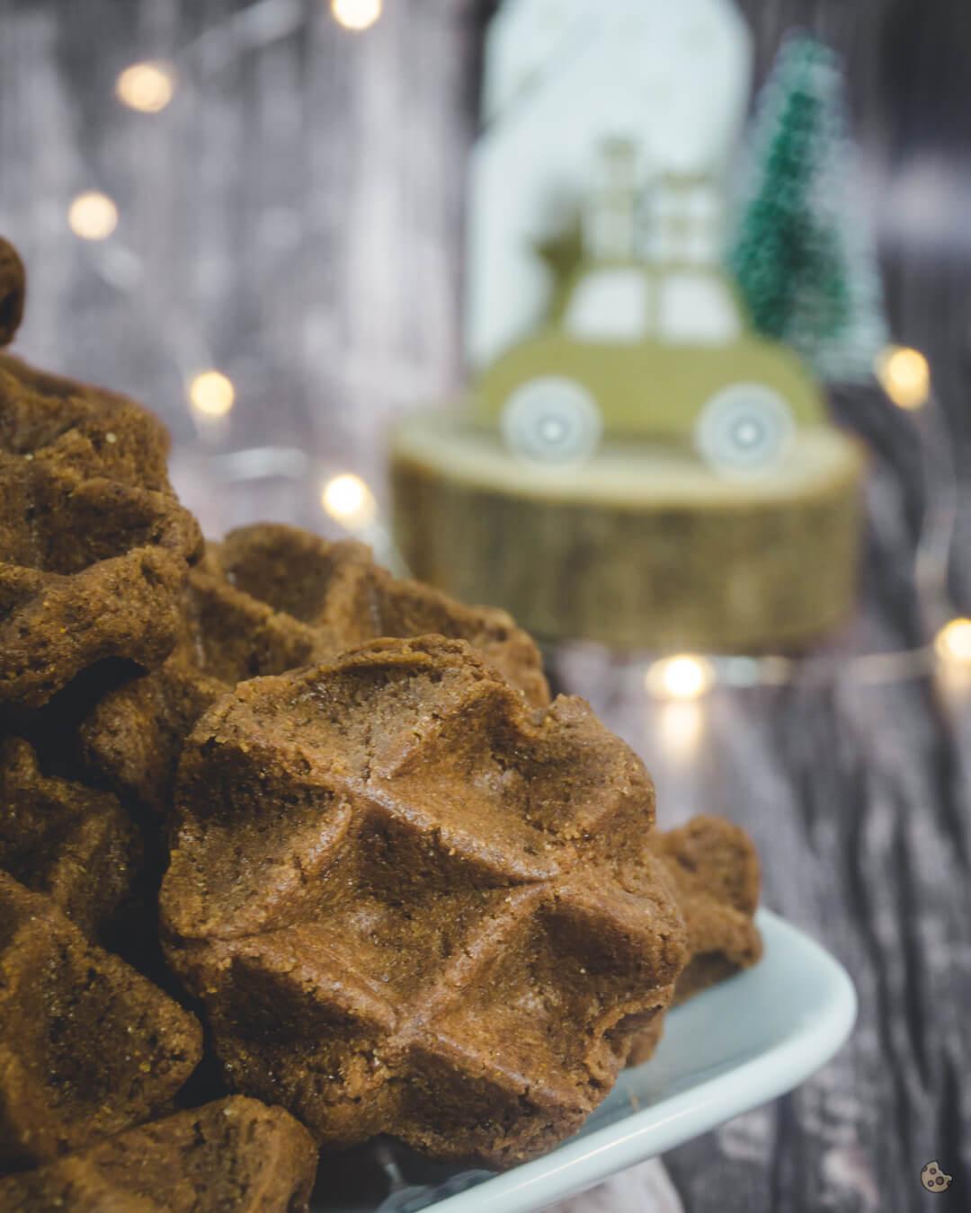 schnelle einfache Lebkuchen Waffel Kekse von keksstaub
