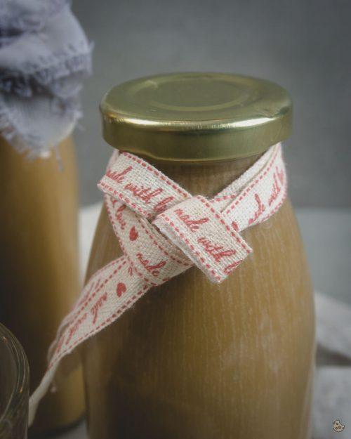 Salz Karamell Likör als Geschenk aus der Küche von Keksstaub