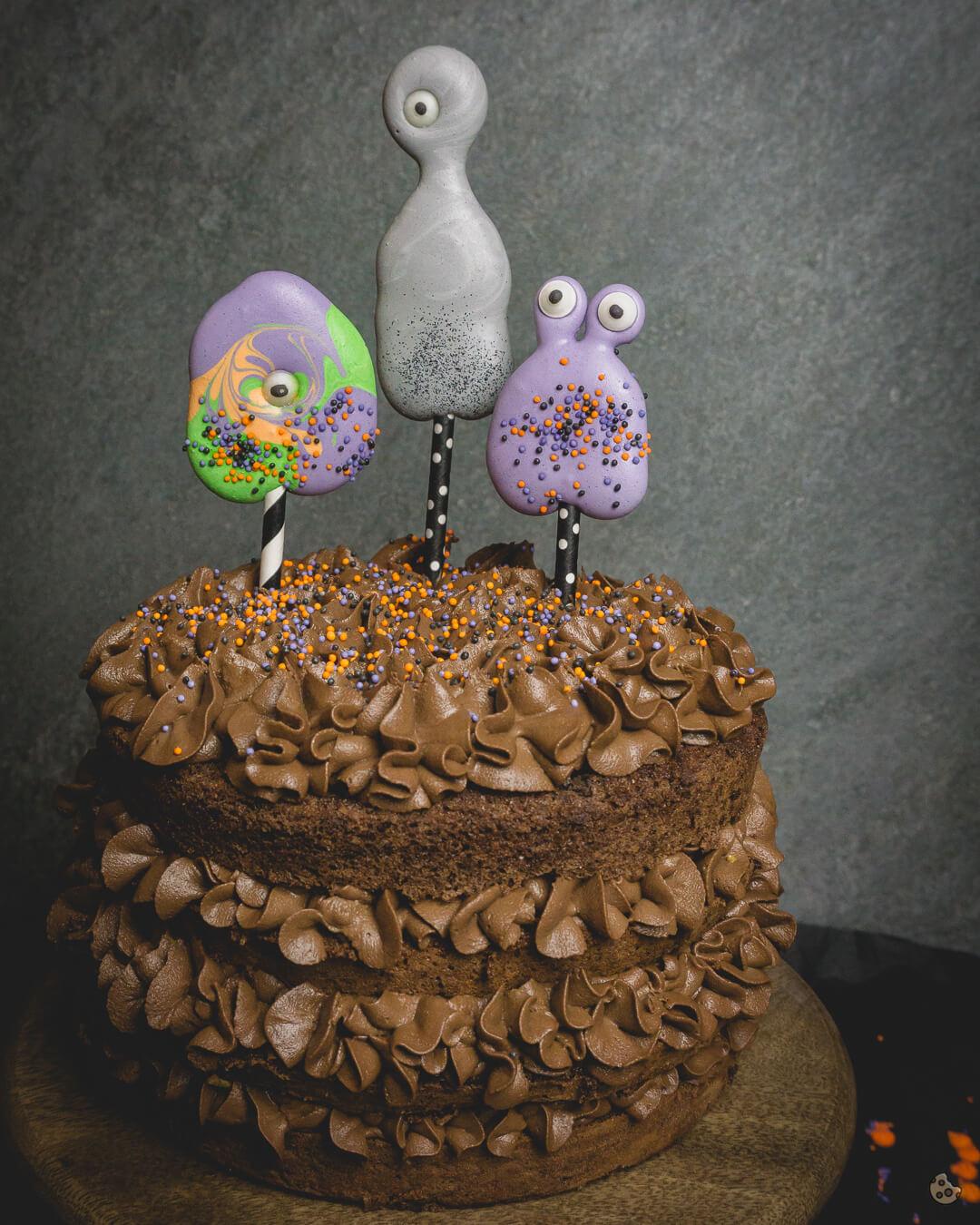Monster Schoko Knusper Torte zu Halloween